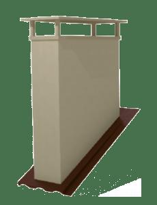 Embase deux conduits faîtage parallèle